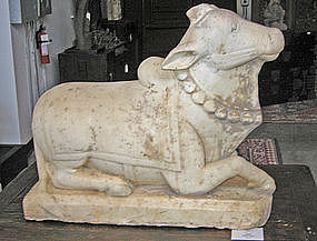 Indian 18th Century Marble Nandi