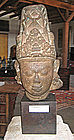 Indian 9th Century Stone Head of Vishnu