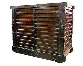 Antique Japanese Karuma Tansu (wheeled chest)