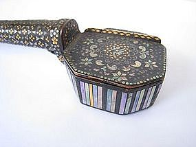 Japanese Edo Period Writing Set with Inlay