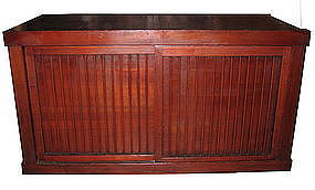Japanese Antique Slat Futon Tansu Section