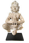 Indian Marble Figure of Garuda as a Angelic Beauty
