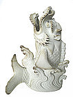 Japanese Hirado Ware Dragon Fish