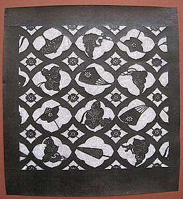 Japanese Framed Textile Stencil