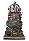 Japanese Seated Figure of Benzaiten from Zushi