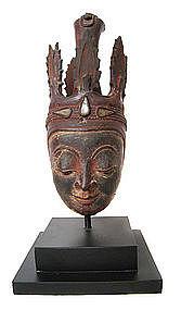 Burmese Dry Lacquer Head of Buddha