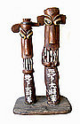 Korean Large Carved Totem Pole Jangseung