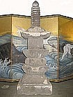 Japanese Antique 8-Part Stone Pagoda