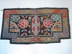 Antique Tibetan Saddle Wool Blanket