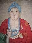 Chinese Massive Pair Buddha Scrolls Ching Dynasty