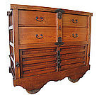 Japanese Antique Karuma Tansu (wheeled chest)