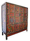 Large Chinese Painted Cabinet