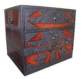 Japanese Antique Fune Tansu (merchant's ship safe)