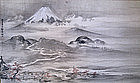 Large Japanese Scroll Painting of Mt. Fuji