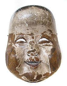 Japanese Okame Noh Mask, Edo Period