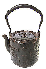 Japanese Cast Iron Tetsubin (tea pot) with Sage