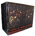 Chinese 17th/18th Century Black Lacquer Cabinet