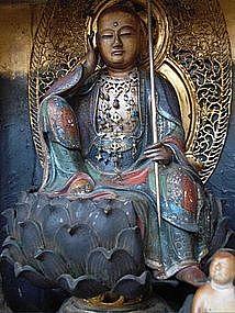 Antique Japanese Zushi Shrine Jizo Bodhisattva