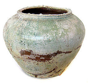 Chinese Ancient Han Dynasty Glazed Ceramic Jar