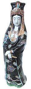 Japanese Kutani Standing Kannon