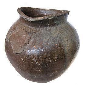 Beautiful Antique Japanese Large Tokoname Jar