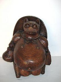Japanese Antique Keyaki Badger