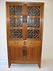 Chinese Antique Lattice Cabinet